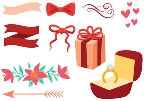 Vecteurs d'invitation de mariage gratuits