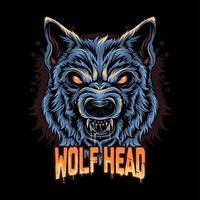illustration de visage de loup en colère