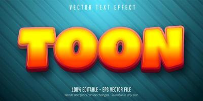 effet de texte modifiable de style dessin animé texte toon