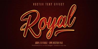 effet de texte modifiable de style royal