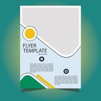 conception de modèle de flyer entreprise géométrique