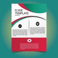 modèle de flyer corporatif moderne vert rouge