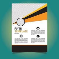 modèle de flyer business abstrait forme orange