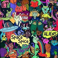 art de rue coloré conceptuel diversité extraterrestre