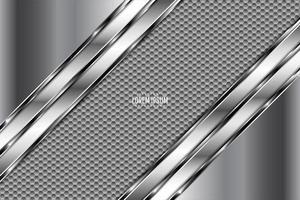 fond en métal gris avec texture en fibre de carbone vecteur