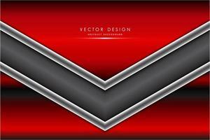 fond de forme de flèche rouge, gris et argent