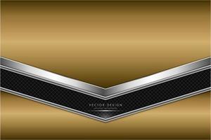 fond métallique or et argent avec fibre de carbone.