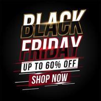 bannière promotionnelle dynamique de vente vendredi noir