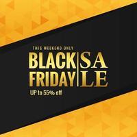 affiche de vente du vendredi noir doré