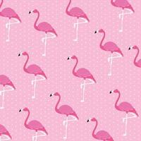 motif de troupeau de beaux oiseaux flamants roses