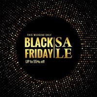 conception de vente de paillettes vendredi noir