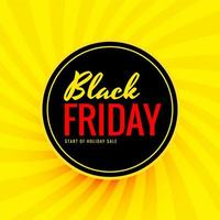 bannière de vente ronde vendredi noir