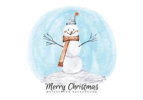 Noël bonhomme de neige vecteur