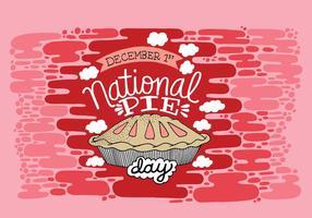 Jour de la tarte nationale vecteur