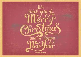 Illustration vintage de Joyeux Noël vecteur