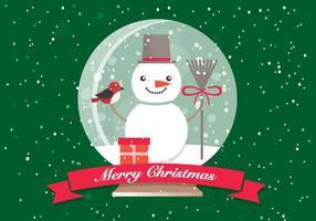 Boule de verre de Noël gratuite vecteur