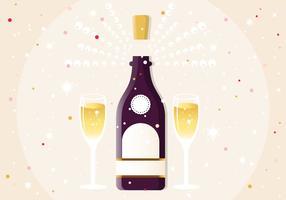 Nouvel An Champagne Illustration Vectorisée vecteur