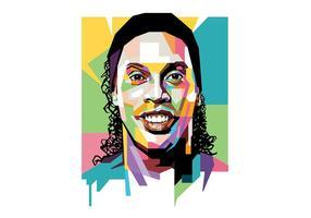 Ronaldinho - popart portrait vecteur