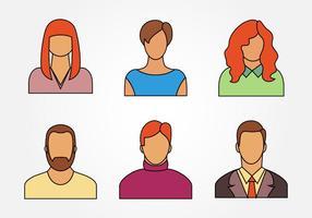 Six icône personnelle vecteur