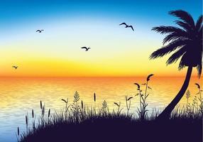Vecteur libre de silhouette de l'avoine de mer