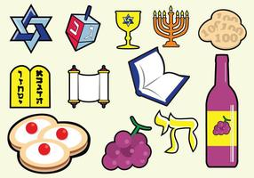 Icône juive shabbat vecteur