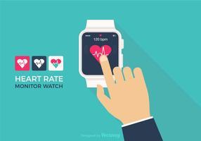 Montre de surveillance de fréquence cardiaque gratuite vecteur