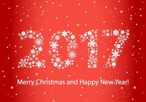 Vecteur de fond 2017 gratuit de nouvelle année