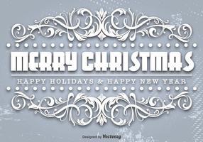 Modèle ornemental de Joyeux Noël vecteur