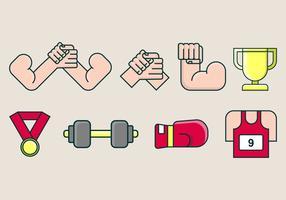 Icône de lutte contre les bras vecteur