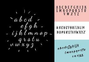 Ensemble vectoriel décoratif d'alphabet