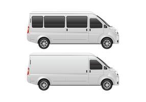 Modèle de Minibus de Minibus vecteur