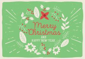 Carte de voeux floral de Noël Vector gratuite