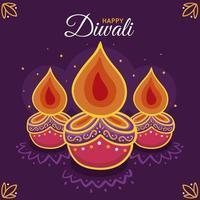 illustration de diwali dessiné à la main