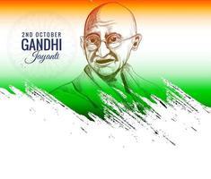 gandhi jayanti fond de célébration du 2 octobre