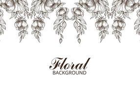 fond de croquis floral décoratif dessiné à la main