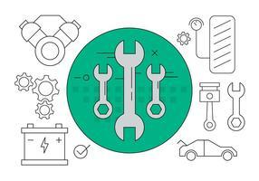 Icônes de service de voiture gratuites vecteur