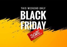 vendredi noir week-end vente bannière concept fond