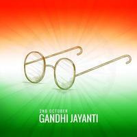 Gandhi jayanti avec des lunettes de croquis thème de couleur indienne