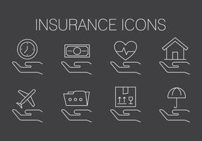 Icônes d'assurance gratuites vecteur
