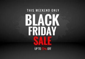 illustration de fond de concept de vente vendredi noir
