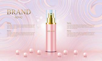 fond abstrait or rose pour produit cosmétique vecteur