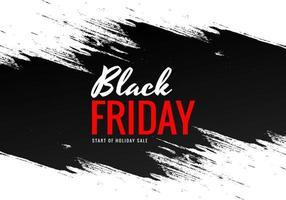 vendredi noir avec conception de bannière de brosse vecteur