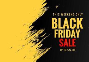 affiche de vente vendredi noir avec fond grunge vecteur