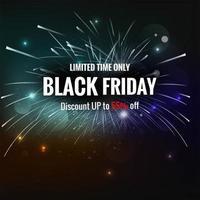 affiche de vente exclusive vendredi noir fond créatif