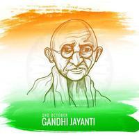 illustration pour gandhi jayanti ou fête nationale du 2 octobre