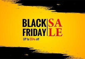 affiche de vente vendredi noir pour fond grunge