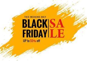 affiche de vente exclusive vendredi noir pour la conception de bannière de brosse
