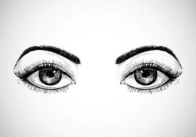 yeux dessinés à la main vecteur