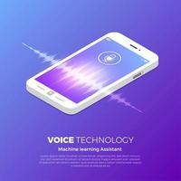 concept de technologie vocale vecteur