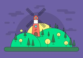 Illustration vectorielle de Windmill Hill
